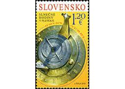 Postage Stamp Sundial in Pleterje (Joint Issue with Slovenia)
