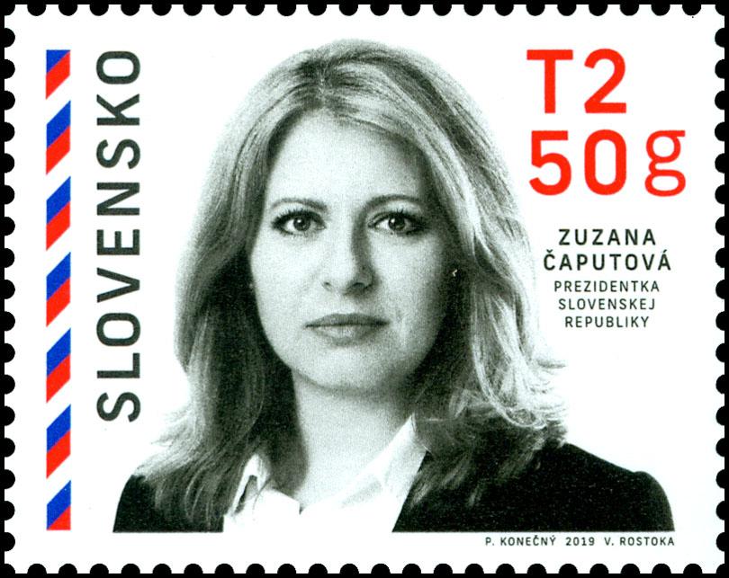 66d636cb5 Poštová známka Prezidentka Slovenskej republiky - Zuzana Čaputová
