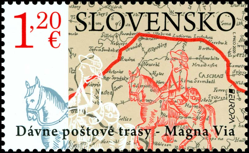 Postage Stamp EUROPA 2020: Old postal routes - Magna Via