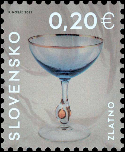 Postage Stamp Applied art in Slovakia: Golden Zuzana from the glass factory Zlatno