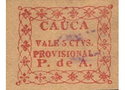 Postage stamp territories - Cauca
