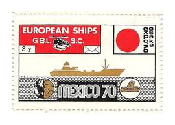 Postage stamp territories - Beware of the European Ships Great Bitter Lake - S.C. labels