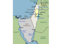 Postage stamp territories - Greater Israel