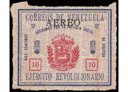 Postage stamp territories - Venezuela - revolutionary stamps 1932