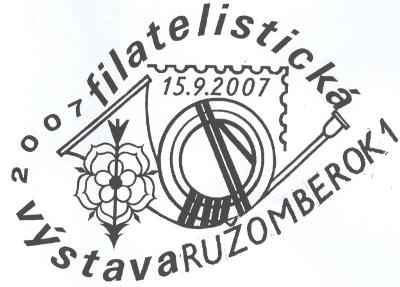 Philatelic Exhibition RUŽOMBEROK 2007 - evaluation of of thematic exhibits