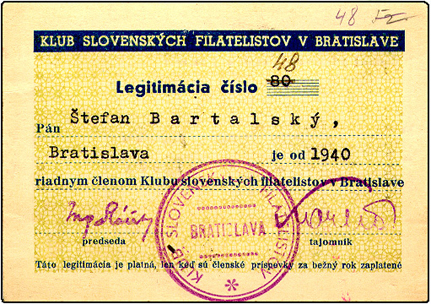 Osobnosti slovenskej filatelie - Štefan Bartalský