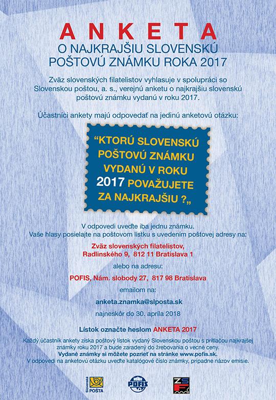 64b38cfb7646f Anketa o najkrajšiu slovenskú poštovú známku za rok 2017 - www ...