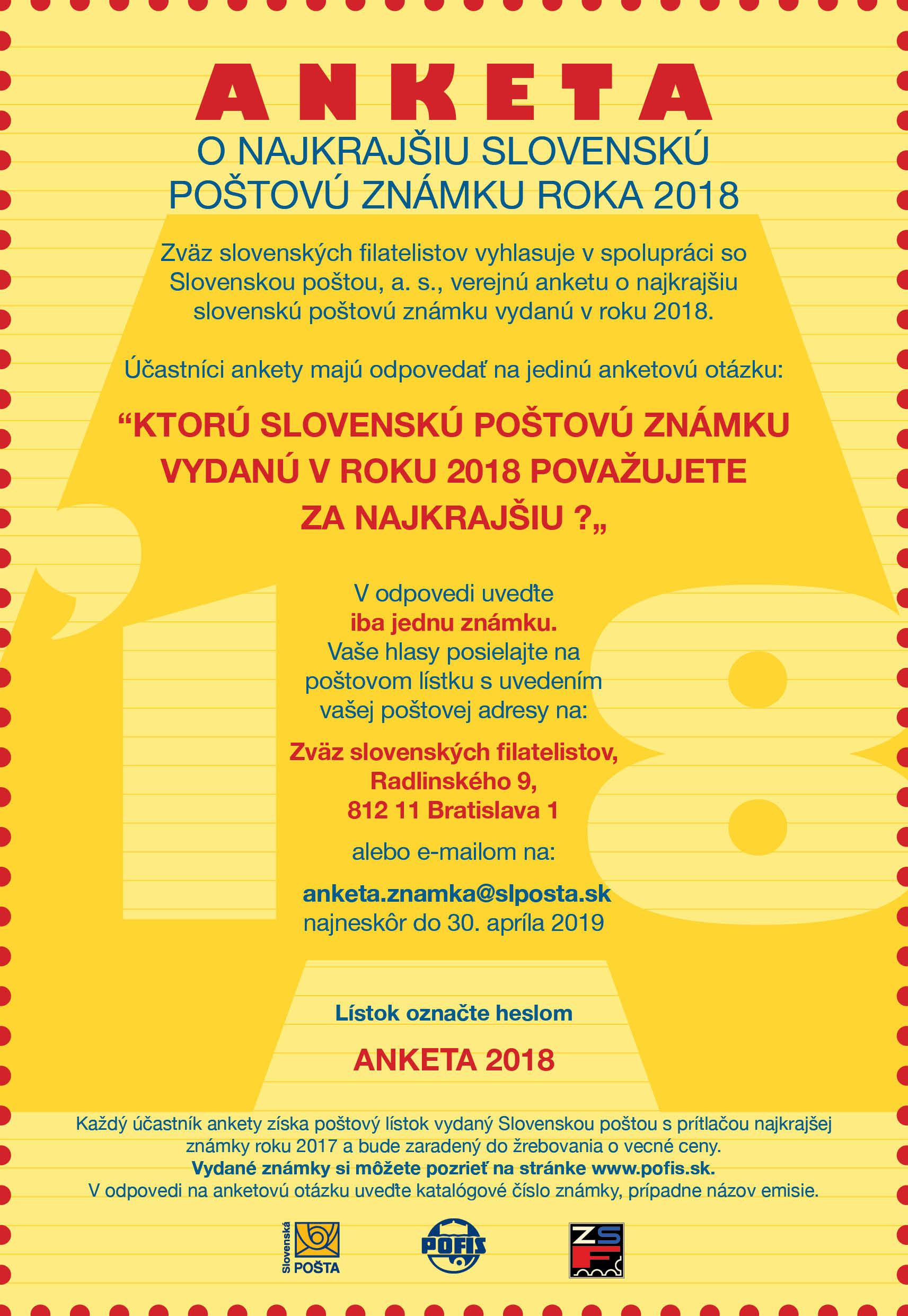 3a770803fc891 Anketa o najkrajšiu slovenskú poštovú známku za rok 2018 - www ...