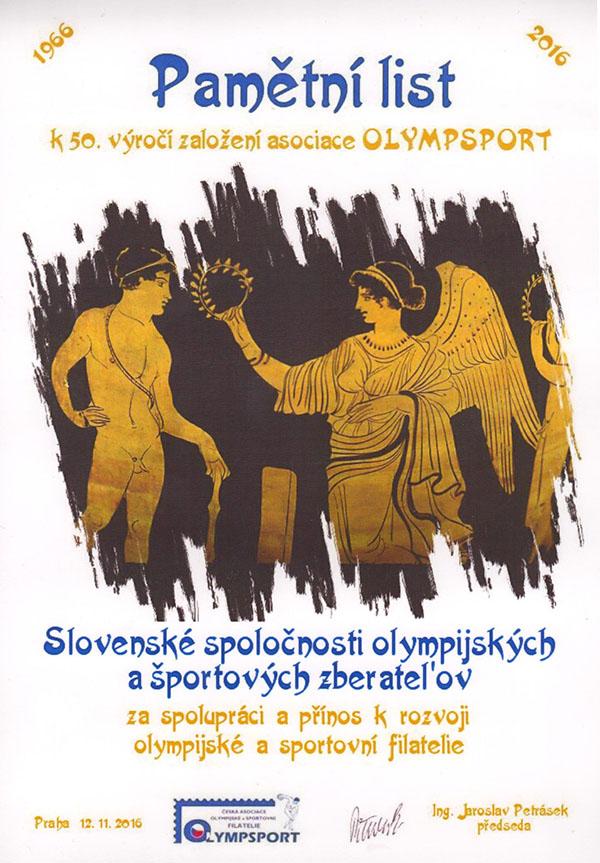 Oslavy 50. výroèia OLYMPSPORTu (1966 - 2016)