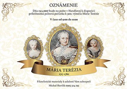 Príležitostná ruèná peèiatka 300. výroèie narodenia Márie Terézie