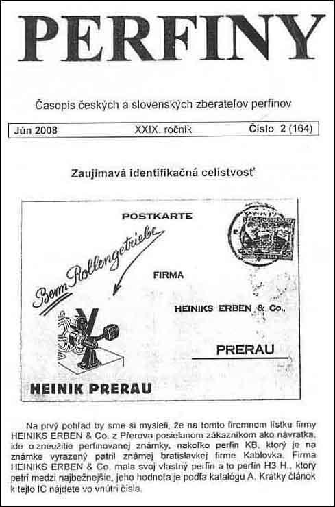 Èasopis èeských a slovenských zberate¾ov perfinov PERFINY
