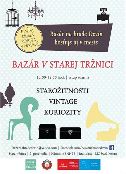 Bazár v Starej tržnici v Bratislave