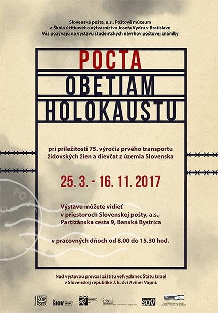 Sl�vnostn� inaugur�cia po�tovej zn�mky Pocta obetiam holokaustu
