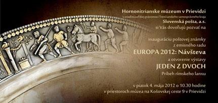 Pozvánka na inauguráciu poštovej známky EUROPA 2012: Návšteva