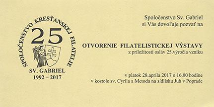 Výstava poštových známok RELIGFILA 2017 v Poprade