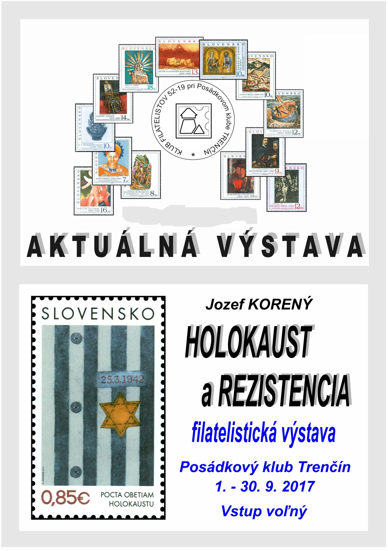 Propagaèná filatelistická výstava HOLOKAUST A REZISTENCIA v Trenèíne