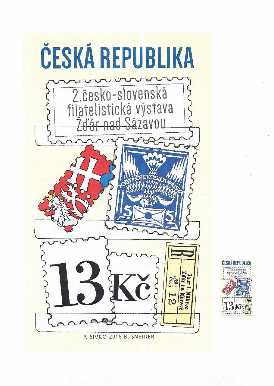 2. česko-slovenská filatelistická výstava ŽDÁR NAD SÁZAVOU 2016
