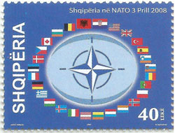 Slovaciká - Albánsko - Vstup Albánska do NATO - Vlajka Slovenska