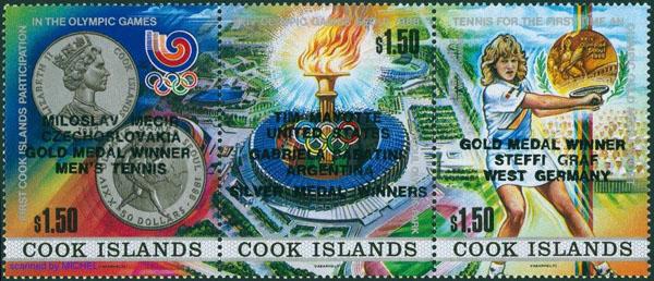 Slovaciká - Cookove ostrovy - LOH 1988 v Soule - Miloslav Mečíř