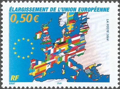 Slovaciká - Francúzsko - Vstup Slovenska do Európskej únie - Hranice Slovenska, vlajka Slovenska