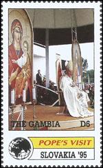 Slovaciká - Gambia - Návšteva sv. otca Jána Pavla II. na Slovensku - Kostol Svätej rodiny Bratislava