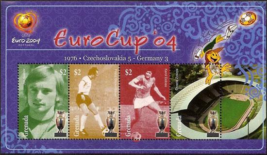 Slovaciká - Grenada - Majstrovstvá Európy vo futbale 1976 - Ján Švehlík, Karol Dobiaš