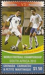 Slovaciká - Grenada Carriacou & Petit Martinique - MS vo futbale 2010 - Erik Jendrišek