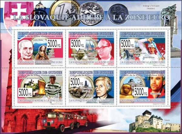 Slovaciká - Guinea - Prechod Slovenska na euro - Slovenské osobnosti