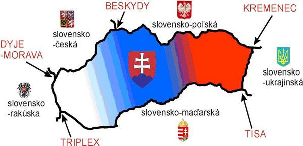 Slovaciká - Hranice Slovenska