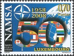 Slovaciká - Luxembursko - 50. výročie NATO - Vlajka Slovenska