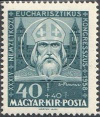 Slovaciká - Maďarsko - XXXIV. Národný eucharistický kongres 1938 - Sv. Maurus