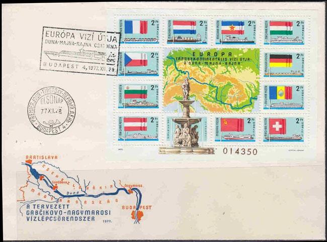 Slovaciká - Maďarsko - Kanál Dunaj - Rýn - Mohan - Dunaj, Morava, Vah, Tisa