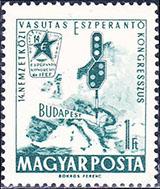 Slovaciká - Maďarsko - 14. Národný kongres Esperanta - územia Slovenska