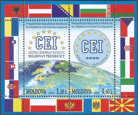 Slovaciká - Moldavsko - Moldavské predsedníctvo v CEI (Stredoeurópskej iniciatíve)  - Vlajka Slovenska