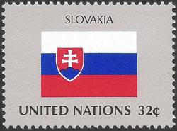 Slovaciká - Organizácia spojených národov (New York) - Vlajky - Vlajka Slovenska