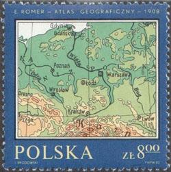 Slovaciká - Poľsko - Zemepisný atlas z roku 1908  - severný Karpatský oblúk s Vysokými Tatrami