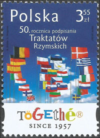 Slovaciká - Poľsko - 50. výročie podpísania Rímskych protokolov4 - Vlajka Slovenska