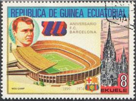 Slovaciká - Rovníková Guinea - 75 rokov F.C. Barcelona - Ladislav Kubala