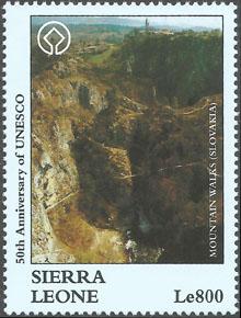 Slovaciká - Sierra Leone - 50. výročie UNESCO - Horské chodníky na Slovensku