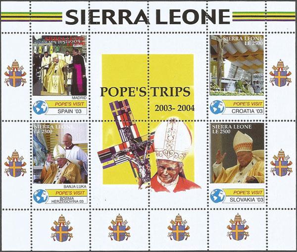 Slovaciká - Sierra Leone - Návšteva sv. otca Jána Pavla II. na Slovensku - SLOVAKIA '03