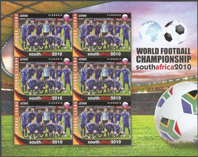Slovaciká - Sierra Leone - MS vo futbale 2010 - Slovenski futbalisti