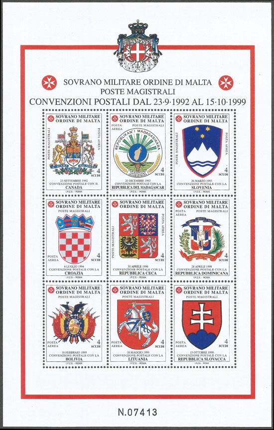 Slovaciká - Zvrchovaný rád maltézskych rytierov - Spoločné vydanie so Zvrchovaným rádom maltézskych rytierov - štátny znak Slovenskej republiky