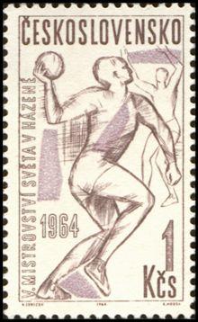Poštová známka Hádzaná