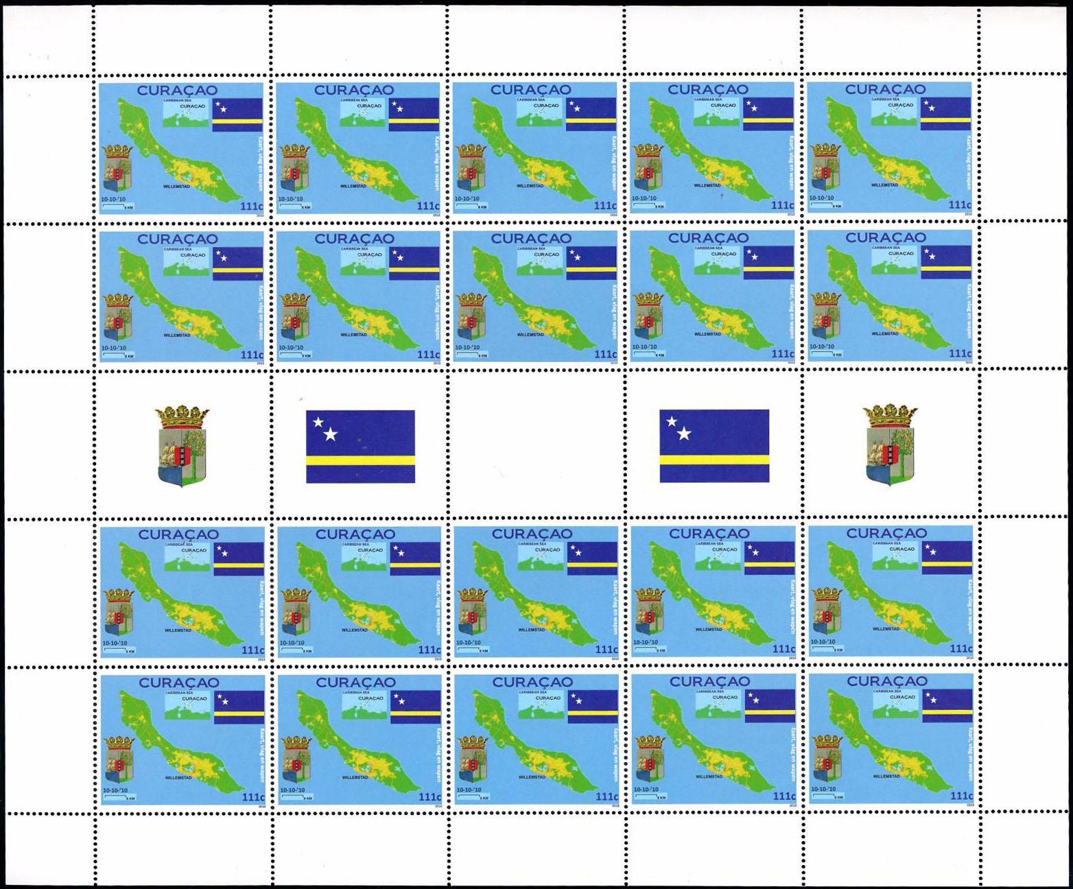 Známkové územia - Karibské Holandsko